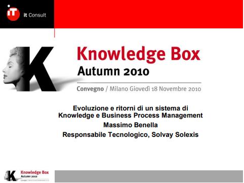 Knowledge e Business Process Management