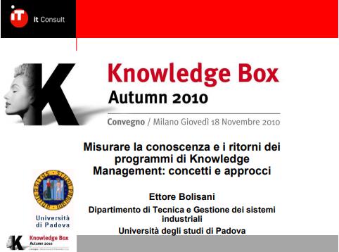 KBox - Ettore Bolisani
